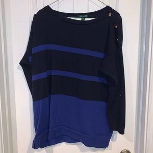 Ralph Lauren button shoulder sweater